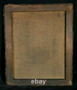 Tableau ancien huile sur toile portrait dame de qualité école Anglaise XIXème