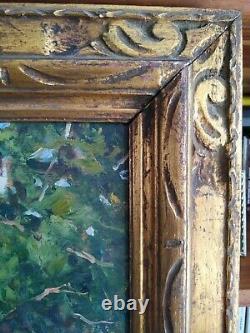 Tableau ancien huile sur toile signé