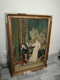 Tableau ancien huile sur toile signé F. SOULACROIX (1858- 1933) époque