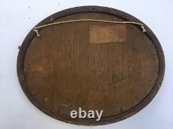 Tableau ancien signé Chauviac, Huile sur panneau, Port méditerranéen, Début XXe