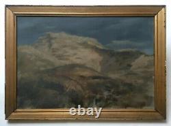 Tableau ancien signé F. Tattegrain, Dune, Huile sur toile, Fin XIXe-Début XXe