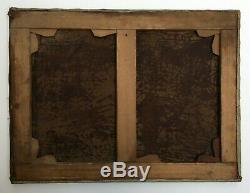 Tableau ancien signé et daté 1890, Huile sur toile, Cavaliers, Chevaux, XIXe