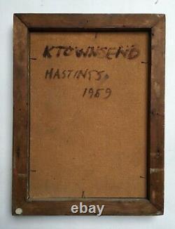 Tableau ancien signé et daté 1969, Huile sur isorel, Ecole d'Europe du Nord XXe