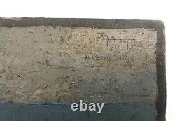 Tableau ancien signé et daté 29, Huile sur carton, Marine, Bretagne Début XXe