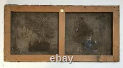 Tableau ancien signé et daté 31, Paysage enneigé, Huile sur toile, Début XXe