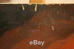 Tableau huile sur table cadre personnages figures nues oeuvre style ancien 900