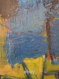 Tableau huile sur toile abstraite des années 50Anonyme Chassis ancien