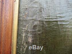 Tableau huile sur toile cardinal de richelieu ancien old painting