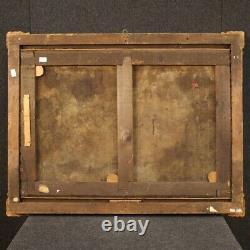 Tableau nu féminin peinture ancienne huile sur toile cadre 800 19ème siècle