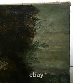 Tableau religieux ancien, Huile sur toile, Ecole flamande XVIIe