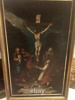 Tableau religieux ancien XVlll ème. Huile sur toile. 44x73. Voir photos