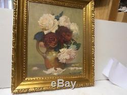 Tableaux Ancien Lucien Darpy Bouquet De Fleurs 1880 Paris Huile Sur Panneau