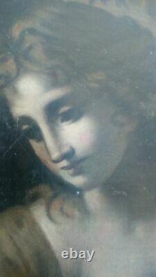 Tres ancienne peinture huile sur toile 19ème 18èmes